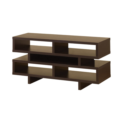 TV Console With 5 Open Compartments Cappuccino - Canales Furniture
