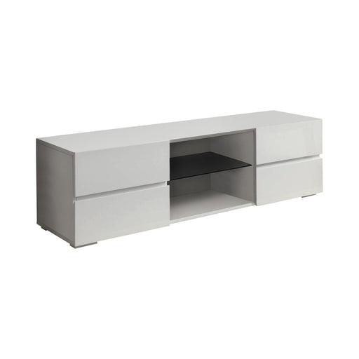 4-Drawer TV Console Glossy - Canales Furniture