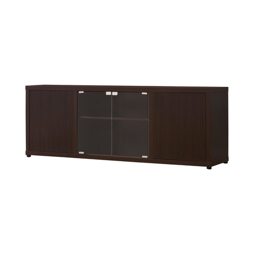 Rectangular TV Console With Magnetic-Push Doors Cappuccino - Canales Furniture
