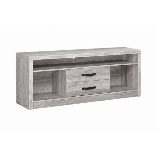 Grey Driftwood TV Console - Canales Furniture