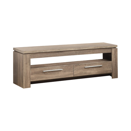2-Drawer TV Console Weathered Brown - Canales Furniture