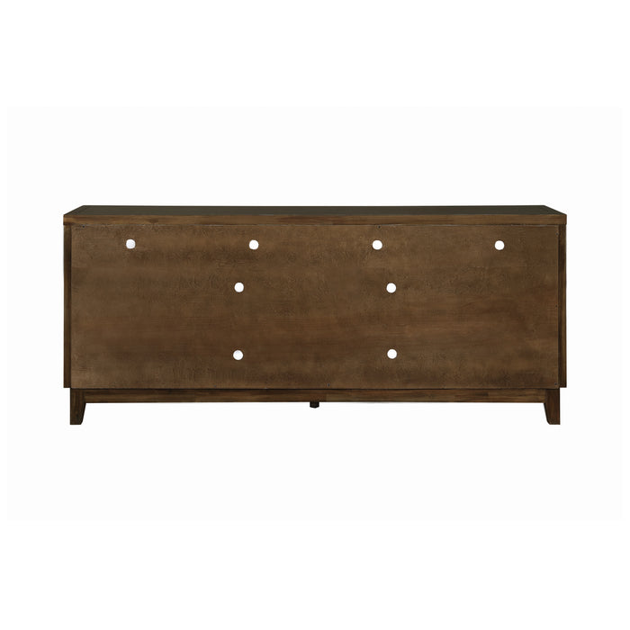 2-Door Rectangular TV Console Rustic Mindy - Canales Furniture