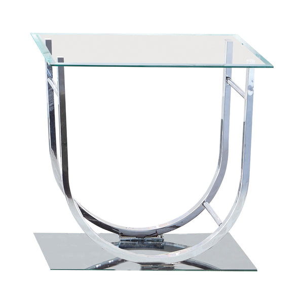 U-Shaped End Table Chrome