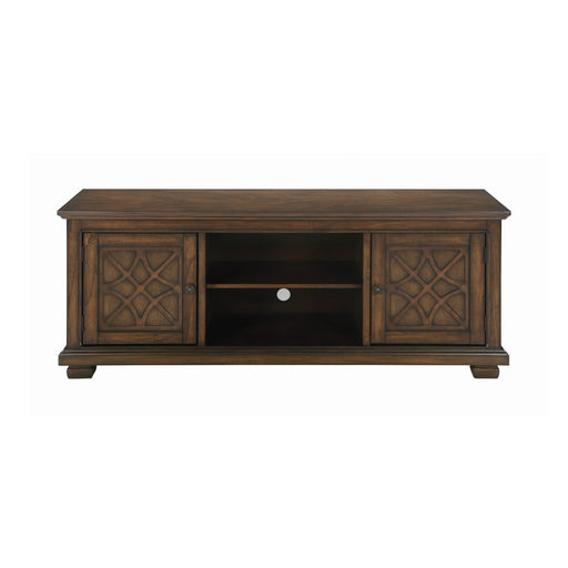 2-Door TV Console Golden Brown - Canales Furniture