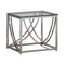 Glass Top Square End Table Accents Chrome