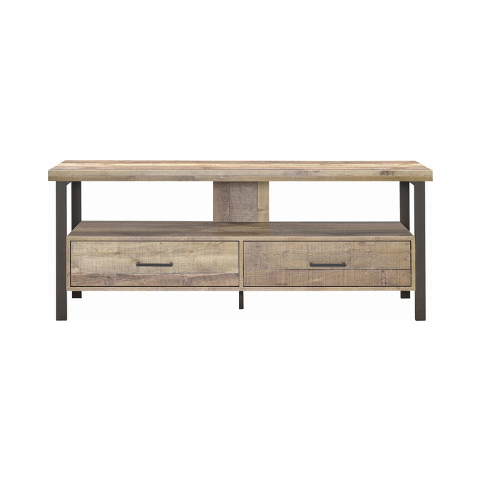TV Console Weathered Pine - Canales Furniture