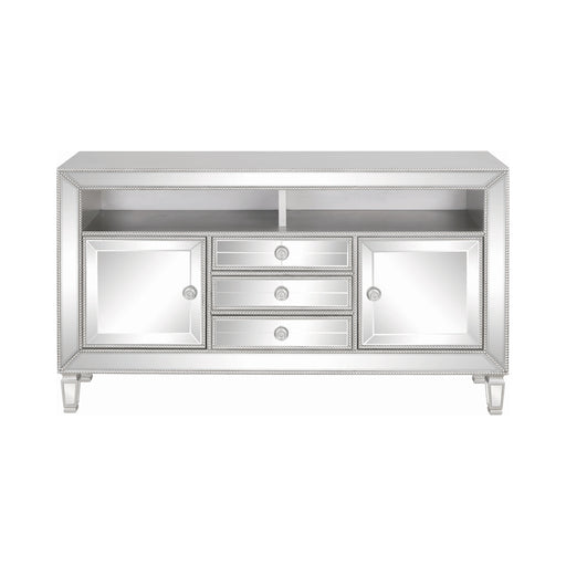 3-Drawer TV Console Metallic Platinum - Canales Furniture