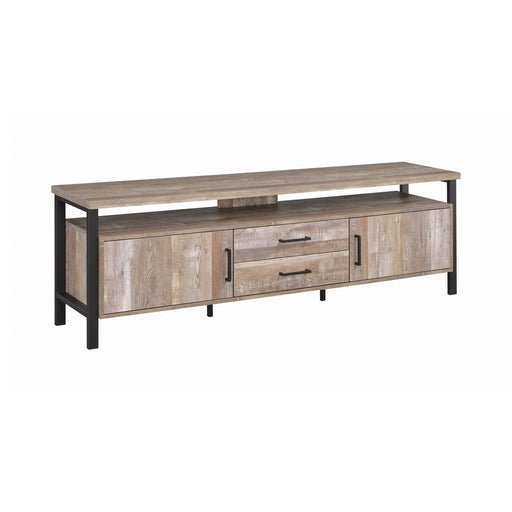 71″ 2-Drawer TV Console Weathered Oak - Canales Furniture