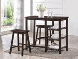 Nyssa Counter Height Dining Room Sets Counter Height Set Acme Furniture Walnut