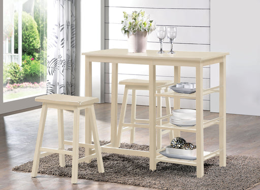 Nyssa Buttermilk Counter Height Set (3Pc Pk) - Canales Furniture
