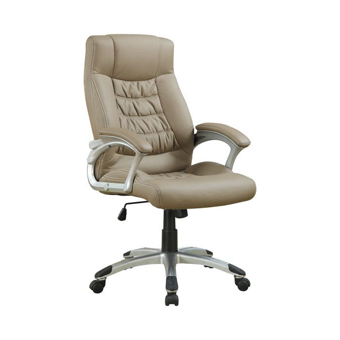 Adjustable Height Office Chair Taupe And Silver - Canales Furniture