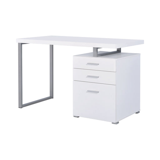 Brennan 3-Drawer Office Desk - Canales Furniture