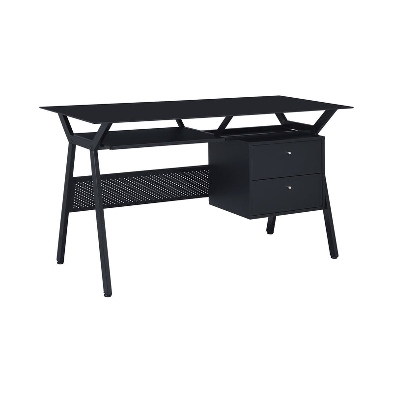 Weaving 2-Drawer Computer Desk Black