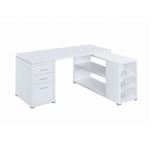 Yvette L-Shape Office Desk - Canales Furniture
