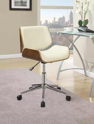 Office Chair in Ecru Leatherette