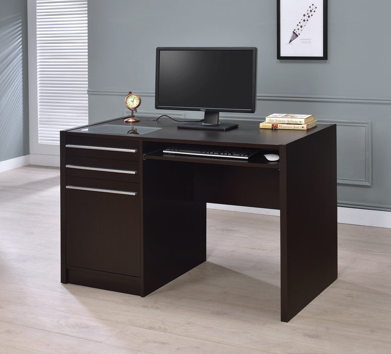 Halston 3-Drawer Rectangular Connect-It Office Desk Cappuccino - Canales Furniture