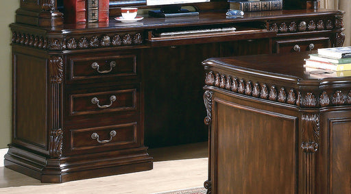 Tucker 6-Drawers Credenza Desk Rich Brown - Canales Furniture