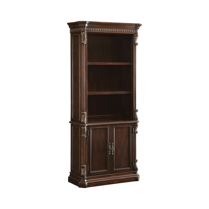 3-Tier Bookcase With Storage Base Rich Brown - Canales Furniture