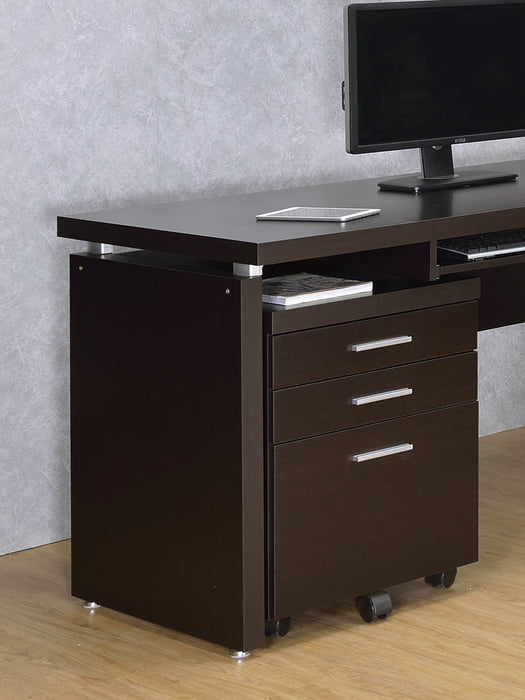 Skylar 3-Drawer Mobile File Cabinet Cappuccino