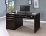 Halston  Desk 3 -Drawer Connect-It Office Desk Cappuccino - Canales Furniture