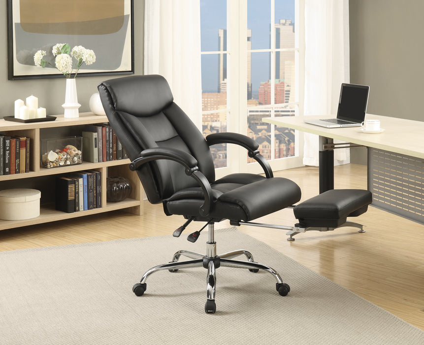 Adjustable Height Office Chair Black And Chrome - Canales Furniture