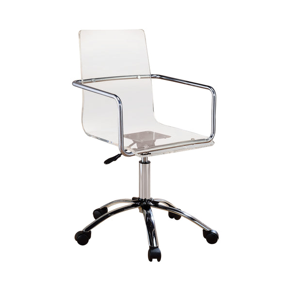 Amaturo Office Chair With Casters Clear And Chrome
