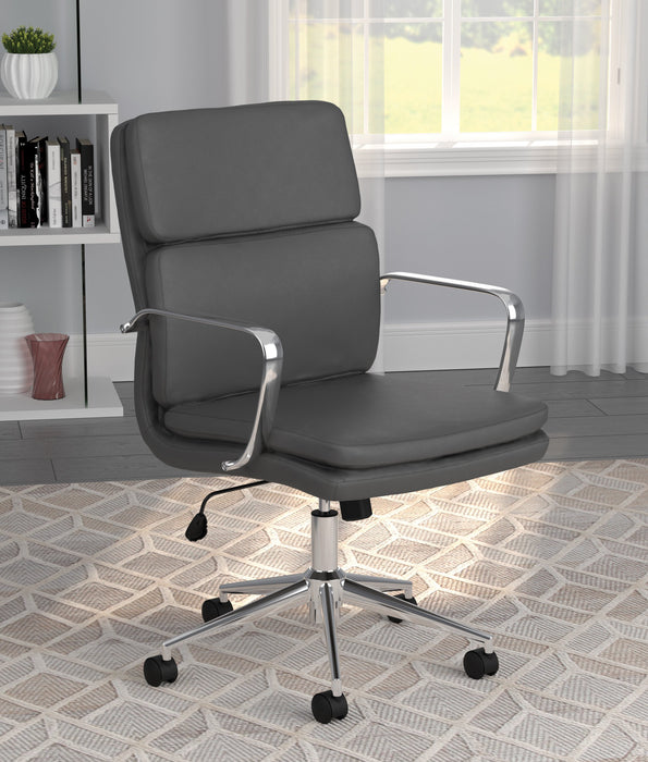 Standard Back Upholstered Office Chair - Canales Furniture