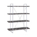 Shelf Bookcase Rustic Grey Herringbone - Canales Furniture