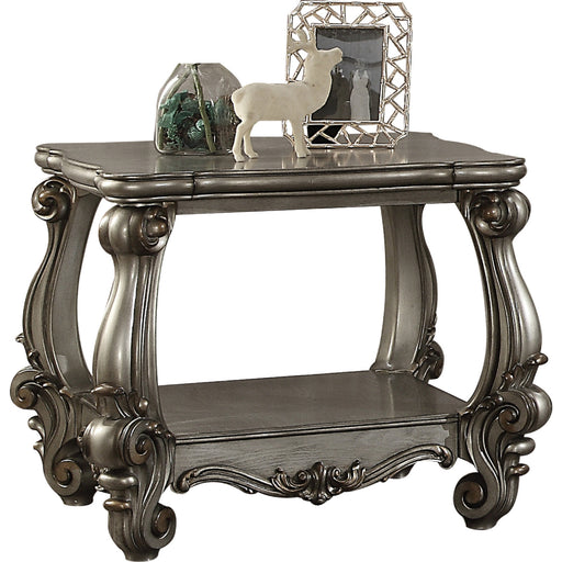 Versailles Antique Platinum End Table - Canales Furniture