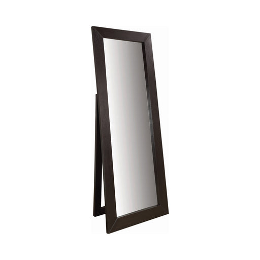 Rectangular Floor Mirror Cappuccino - Canales Furniture