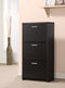 3-Drawer Shoe Cabinet Black