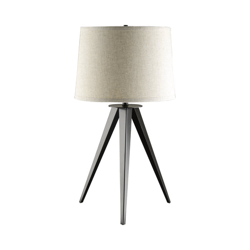 Tripod Base Table Lamp Black And Light Grey - Canales Furniture