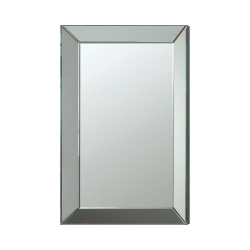 Rectangular Beveled Wall Mirror Silver - Canales Furniture