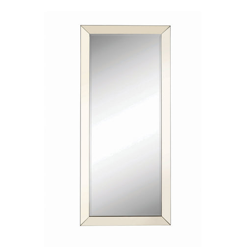 Rectangular Floor Mirror Silver - Canales Furniture