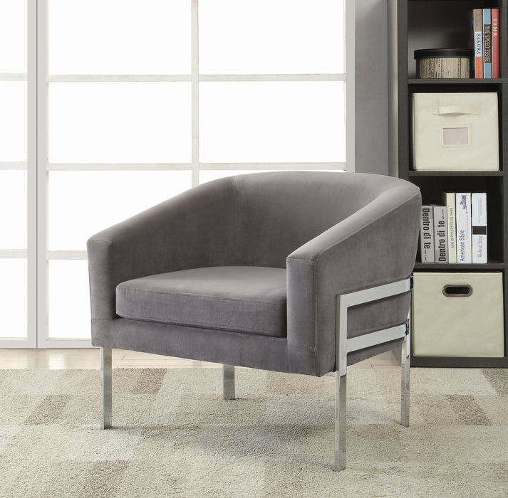 Barrel Back Accent Chair With Sloped Arm Grey - Canales Furniture