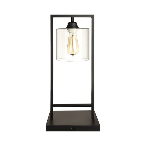 Glass Shade Table Lamp Black - Canales Furniture