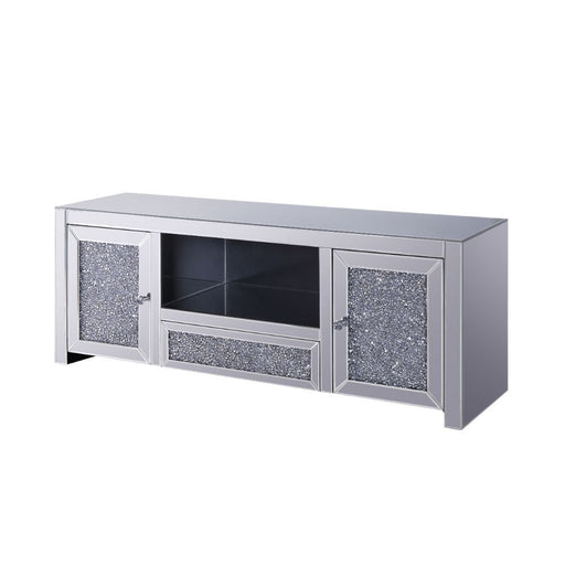 Noralie Mirrored & Faux Diamonds TV Stand - Canales Furniture