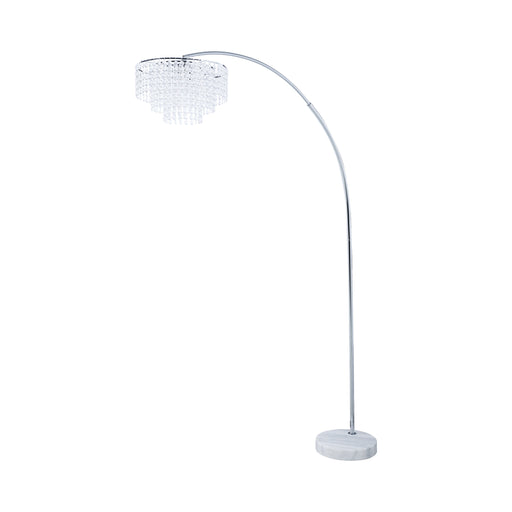 Marble Base Floor Lamp Chrome And Crystal - Canales Furniture