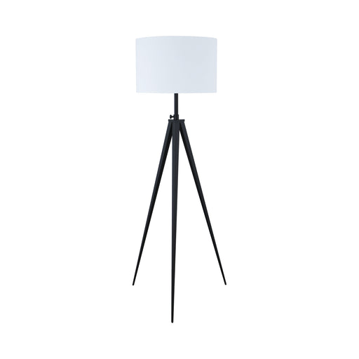 Tripod Legs Floor Lamp White And Black - Canales Furniture