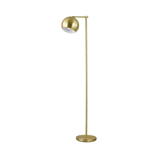 1-Light Dome Shade Floor Lamp Brass - Canales Furniture