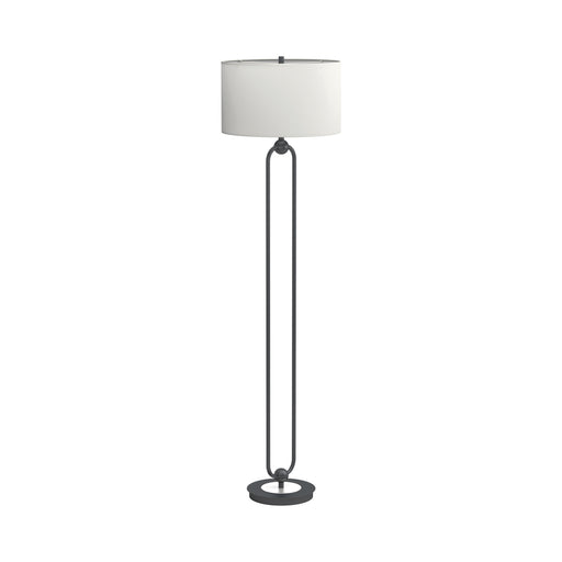 Drum Shade Floor Lamp White And Orb - Canales Furniture