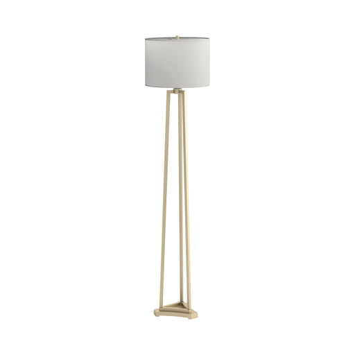 Drum Shade Floor Lamp White And Gold - Canales Furniture
