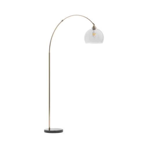 Curved Neck Floor Lamp Black - Canales Furniture