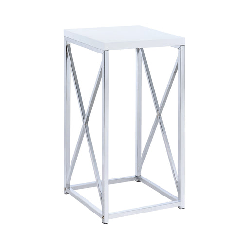Accent Table With X-Cross Glossy - Canales Furniture