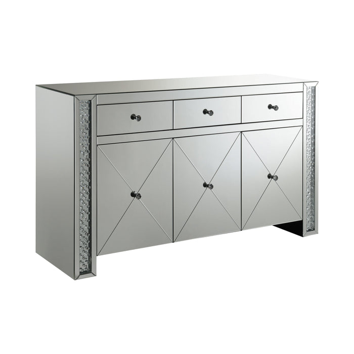 Fueyes 3-Drawer Accent Cabinet Silver - Canales Furniture