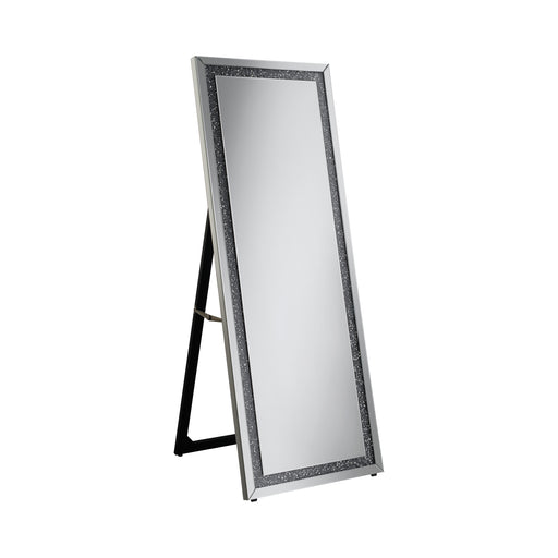 Rectangular Cheval Floor Mirror Silver - Canales Furniture