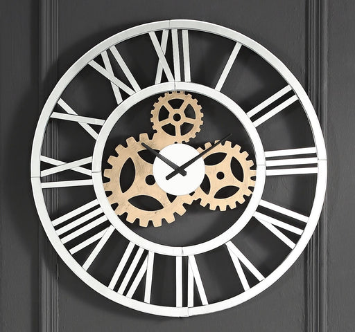 Acilia Mirrored Wall Clock - Canales Furniture