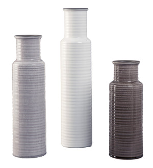 Deus - Gray/White/Brown - Vase Set (3/CN) - Canales Furniture