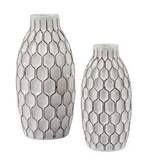 Dionna - White - Vase Set (2/CN) - canales-furniture