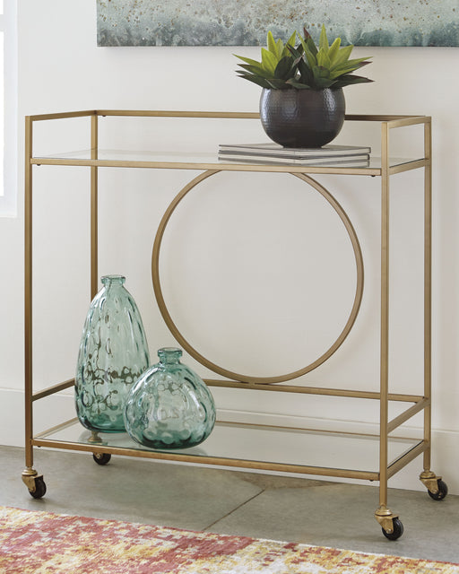 Jackford Signature Design by Ashley Bar Cart - Canales Furniture